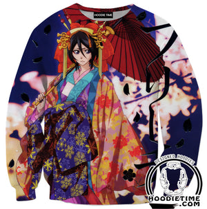 Bleach Clothing - Rukia Kuchiki Hoodie - Bleach Hoodies-Hoodie Time - Anime and Gaming Hoodies