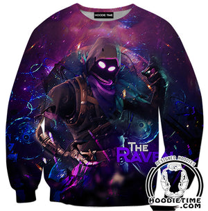 Raven Fortnite Hoodie - Raven Skin Hoodie - Fortnite Apparel-Hoodie Time - Anime and Gaming Hoodies