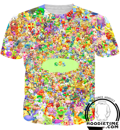 all 151 pokemon t-shirt shirts