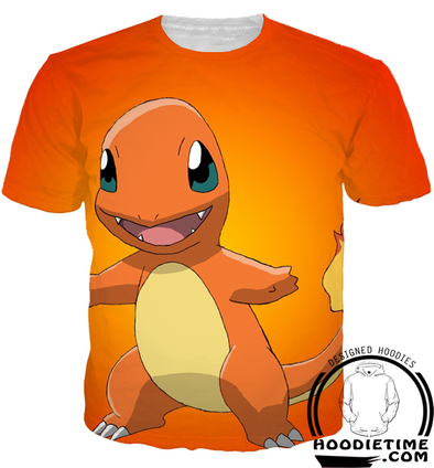 Pokemon - Cute Charmander T-Shirt - 3D Shirt-Hoodie Time - Anime and Gaming Hoodies