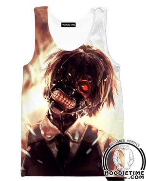 Creepy Tokyo Ghoul Hoodie - Ken Kaneki Hoodie-Hoodie Time - Anime and Gaming Hoodies