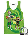 Rick and morty dbz tank top