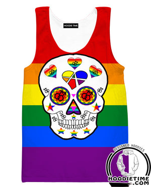 Gay Pride Skeleton Hoodie - Gay Pride Apparel-Hoodie Time - Anime and Gaming Hoodies