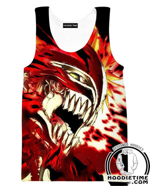 Awesome Fire Bleach Hoodie - Ichigo Rage Hoodie-Hoodie Time - Anime and Gaming Hoodies