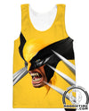 Wolverine Tank Top superhero gym shirt xmen