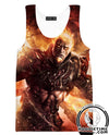 Fire Kratos Hoodie - God of War Clothes-Hoodie Time - Anime and Gaming Hoodies