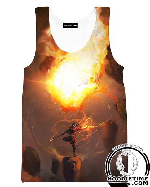 Fire Bending Tank Top - Fire Magic Gym Shirts-Hoodie Time - Anime and Gaming Hoodies