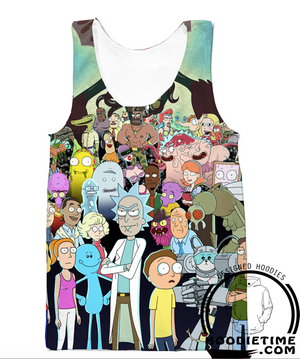 Rick and Morty All Character Hoodie - Rick and Morty Hoodies-Hoodie Time - Anime and Gaming Hoodies