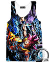 beerus vs god goku dragon ball z tank top gym shirt