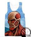attack on titan tank top gym shirt workout clothes clothing anime cool