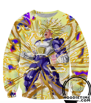 Dragon Ball Z - Super Saiyan Ultra Trunks Hoodie - 3D Pullover Hoodie-Hoodie Time - Anime and Gaming Hoodies