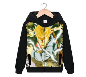 Legendary Super Saiyan Trunks Zip-up black hoodie