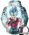 Super Saiyan Blue Vegeta GT Clothes Hoodie Dragon ball z hoodies clothing