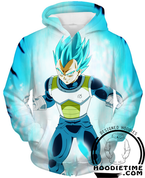 Super Saiyan Blue Vegeta Hoodie Dragon ball z clothing dbz