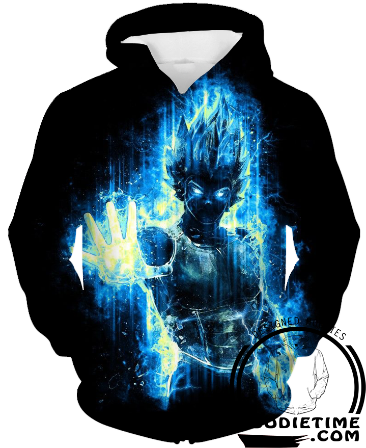 Super saiyan blue vegeta ssb hoodie 3d clothing hoodies dragon ball z