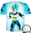 super saiyan blue vegeta t-shirt dragon ball z shirts clothes clothing dbz
