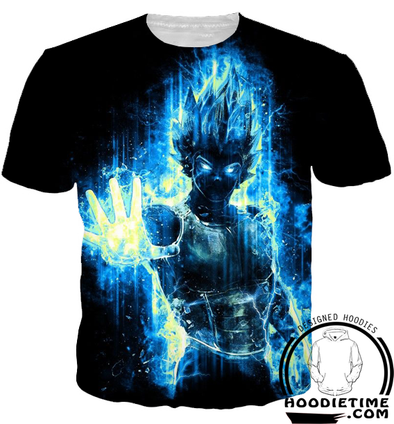 super saiyan blue vegeta t-shirt 3d clothing dbz dragon ball z clothes