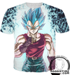 dragon ball super vegeta blue gt clothes t-shirt shirt clothing