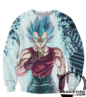 vegeta blue t-shirt ssb super saiyan blue sweatshirt clothes