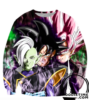 Dragon Ball Super Z - Zamasu, Blak Goku, Super Saiyan Rose Hoodie - 3D Pullover Hoodie-Hoodie Time - Anime and Gaming Hoodies