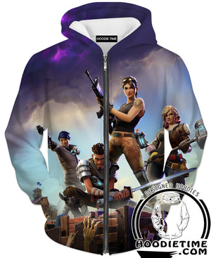 Fortnite Hoodie - Battle Royale Pullover Hoodies Clothing-Hoodie Time - Anime and Gaming Hoodies