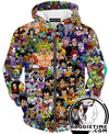 All Dragon Ball Characters Hoodie - Dragon Ball Z Hoodies and Clothing-Hoodie Time - Anime and Gaming Hoodies