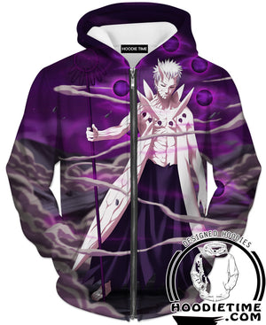 10 Ten Tails Obito T-Shirt - Naruto Shirts - Full Print Clothing-Hoodie Time - Anime and Gaming Hoodies