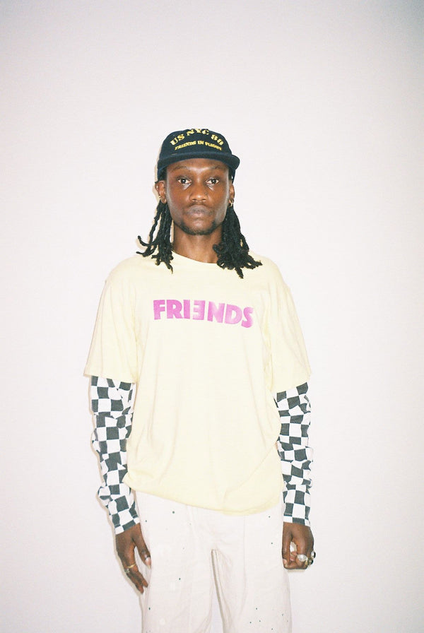 FRIENDS LAYERED SKATER LONG SLEEVE TEE
