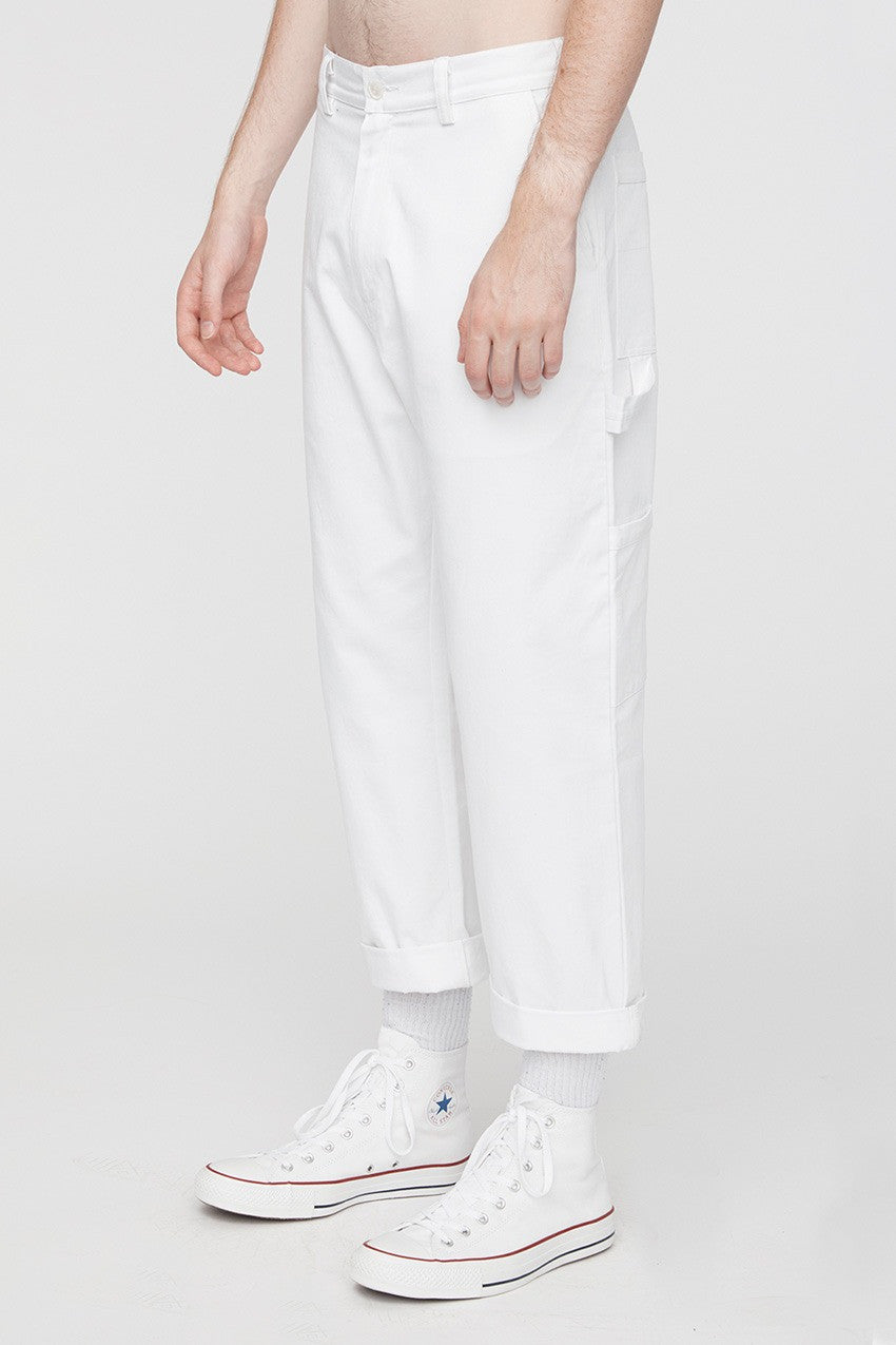 Straight Leg Painter Trouser White