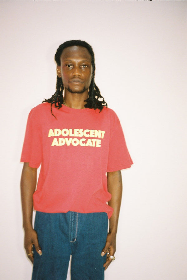 Adolescent Advocate T-shirt In Washed Out Red