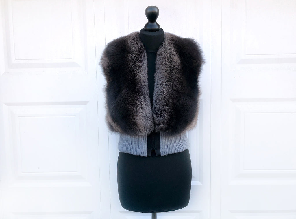 Fox Fur Bomber Gilet