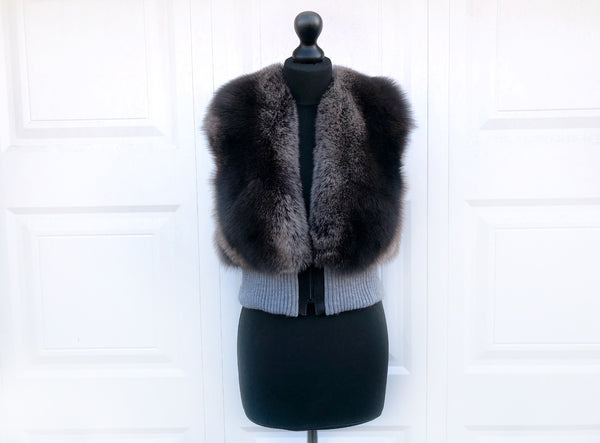 """Gorse"" Ribbed Fox Fur Vest"