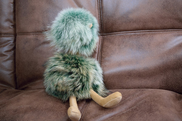 """Sage"" Plush Teddy Emu"