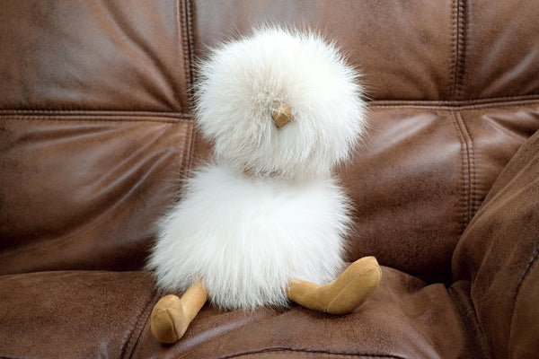 Fox Fur Bird Plush in Palomino