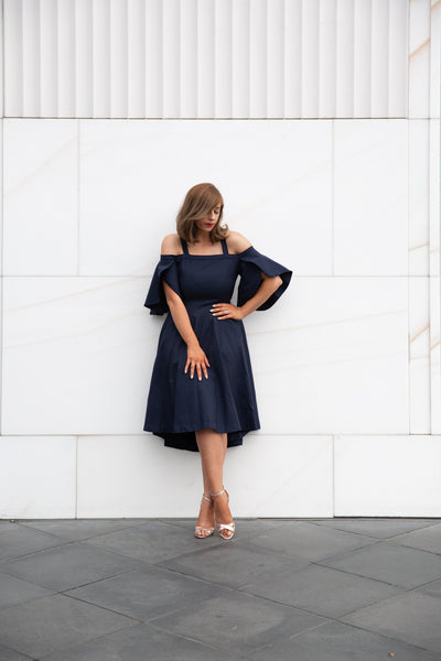 LIDIA DRESS - MIDNIGHT BLUE