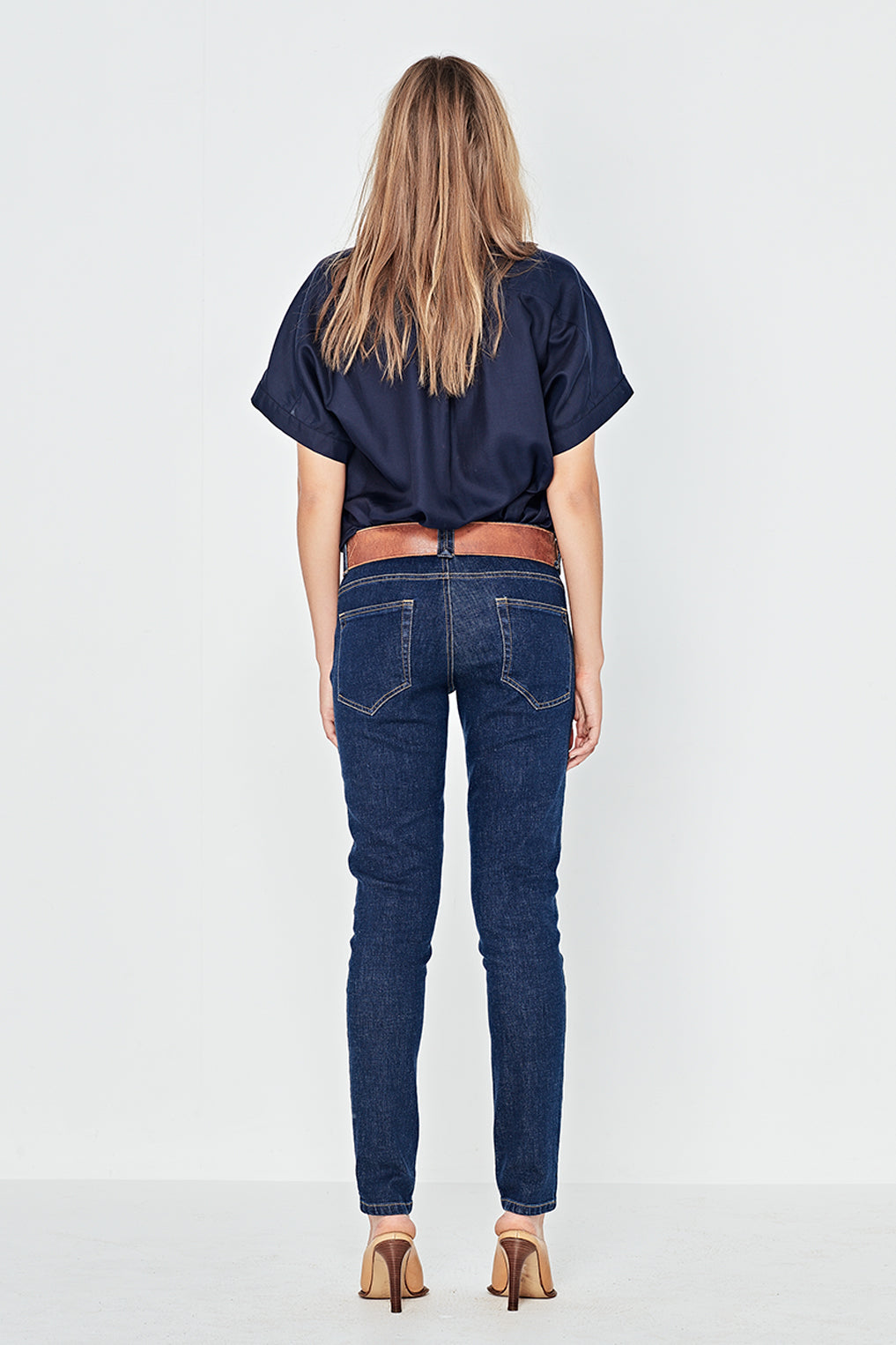 The Bonnie Blouse in Navy
