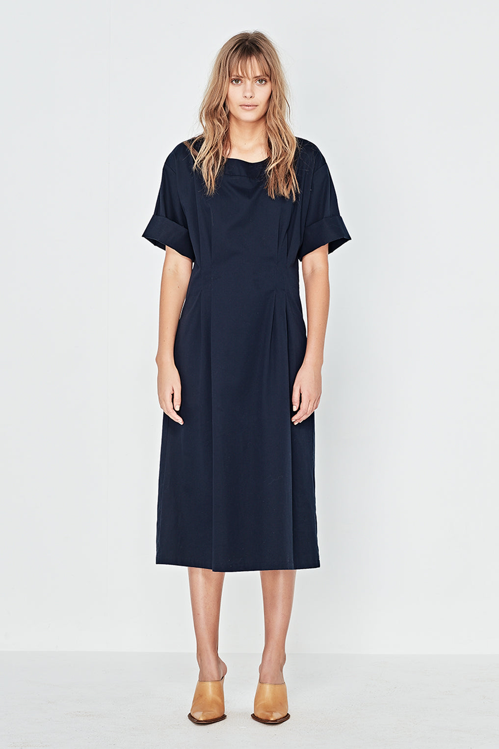 The Danube Dress in Navy