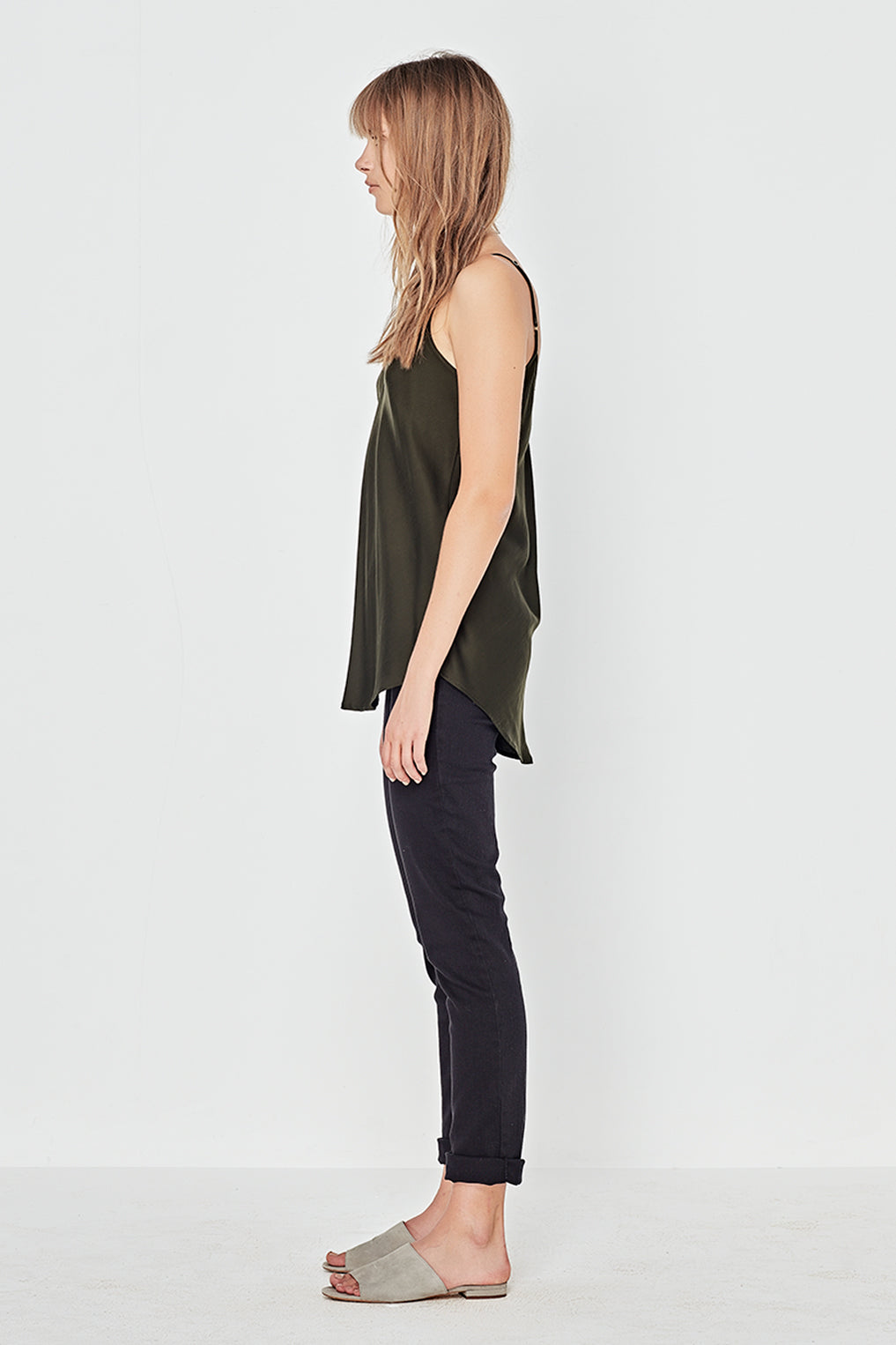 The Corsica Cami in Forest Green