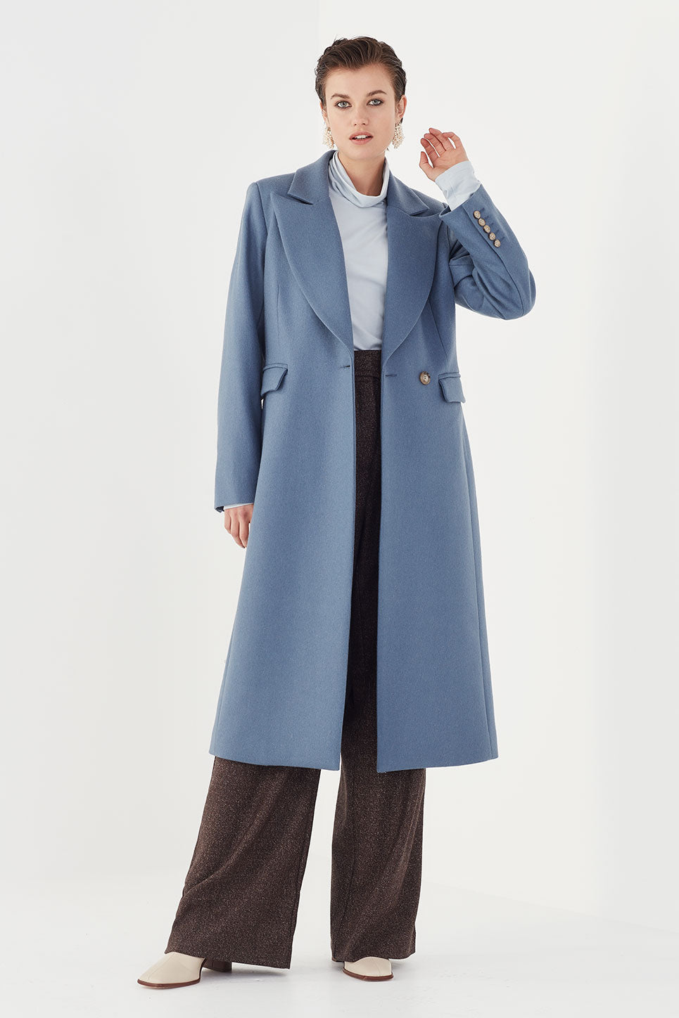 The Carter Coat in Cornflower