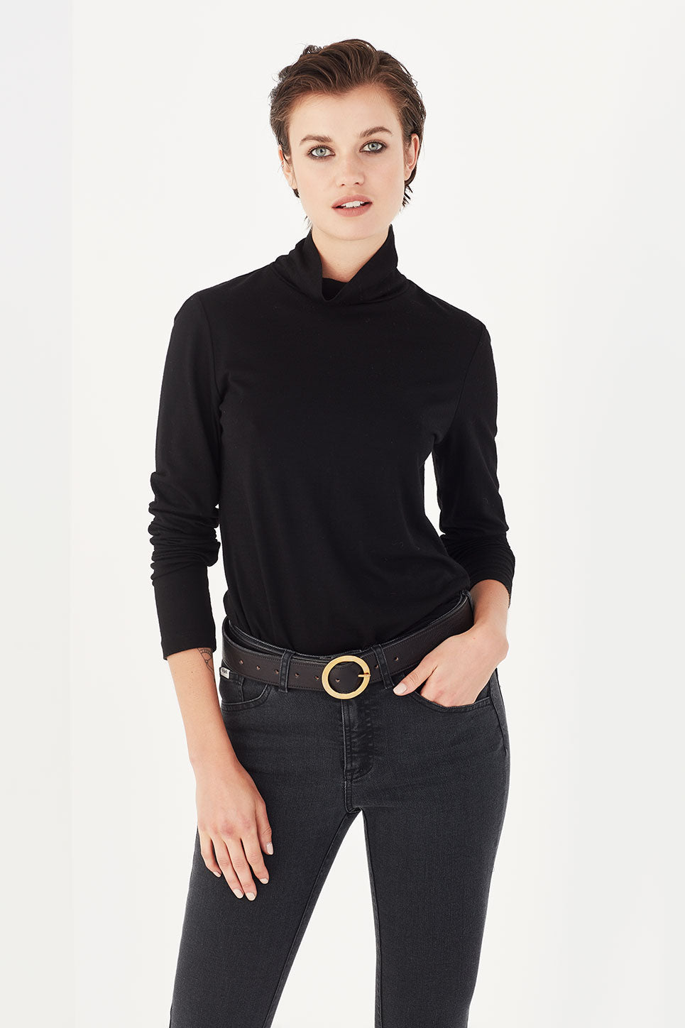 The Harrison Top in Black