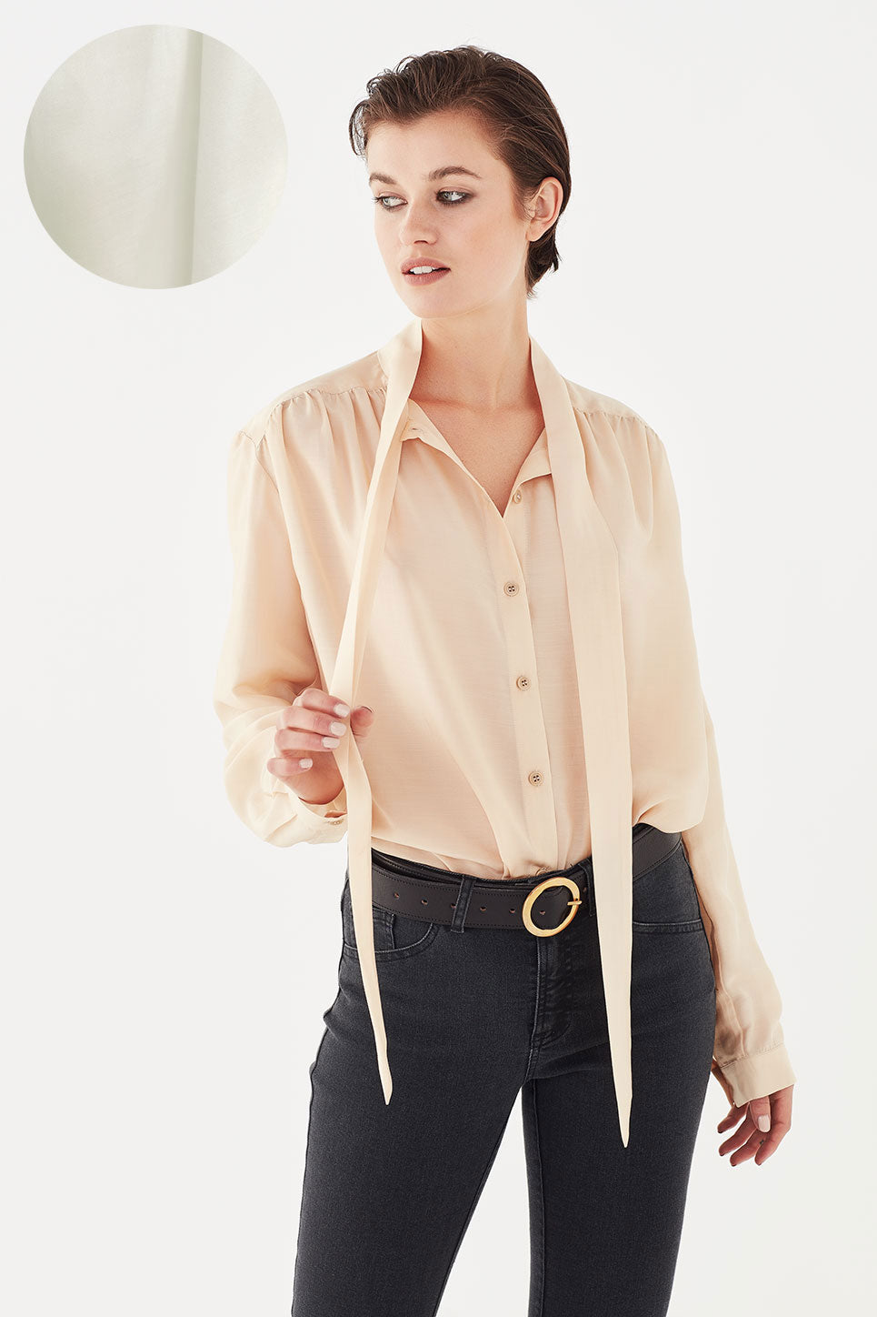 The Bianca Blouse in Ivory