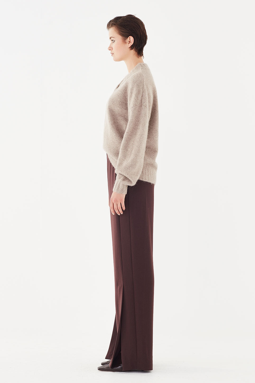 The Isaac Jumper in Chai Mélange