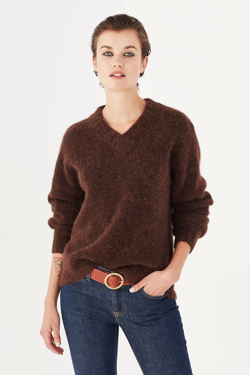 The Isaac Jumper in Coffee