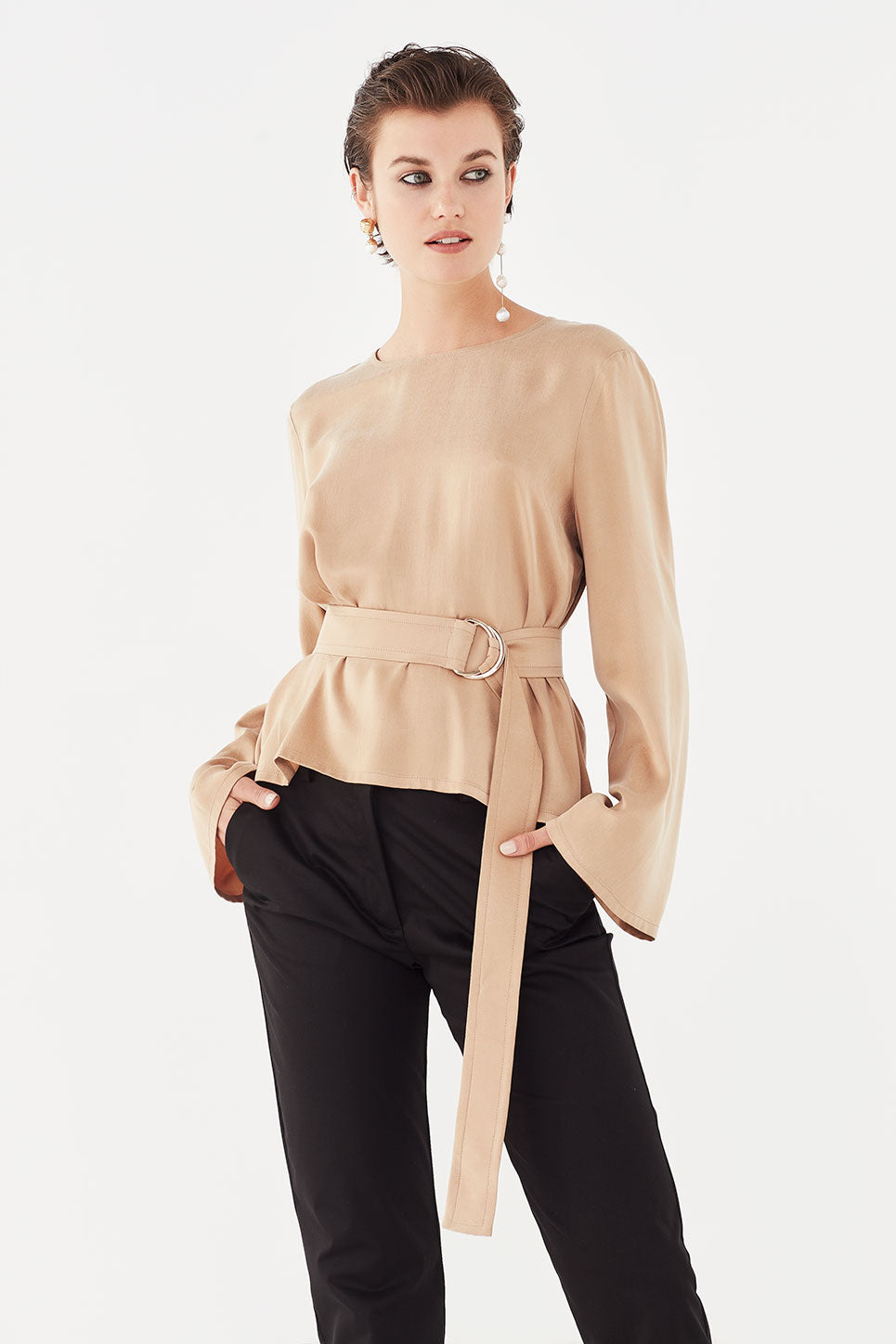 The Everly Top in Gold