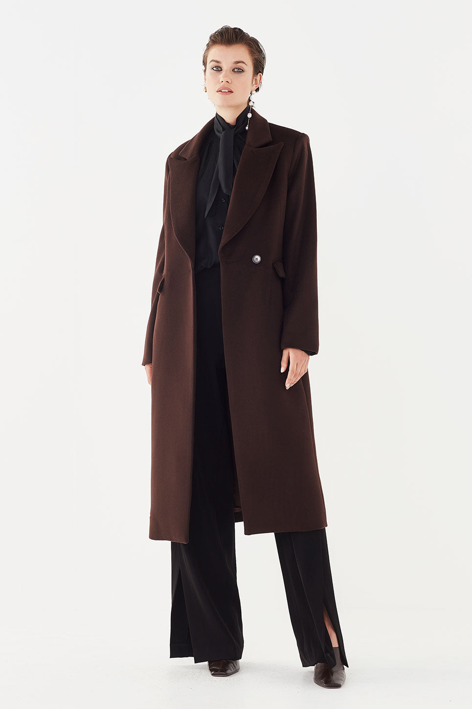 The Carter Coat in Chocolate