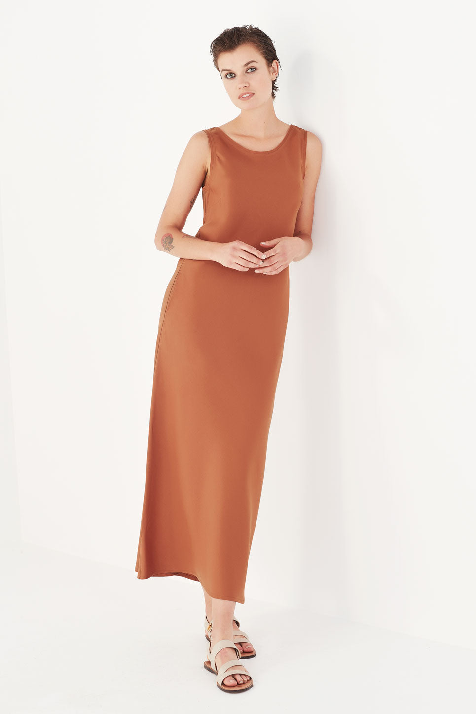 The Pryce Dress in Cinnamon