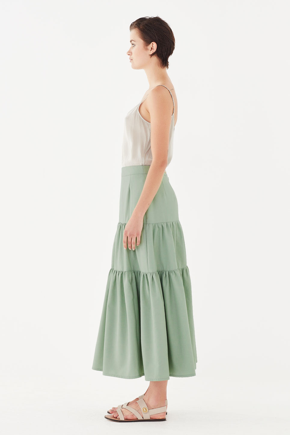 The Iris Skirt in Pistachio