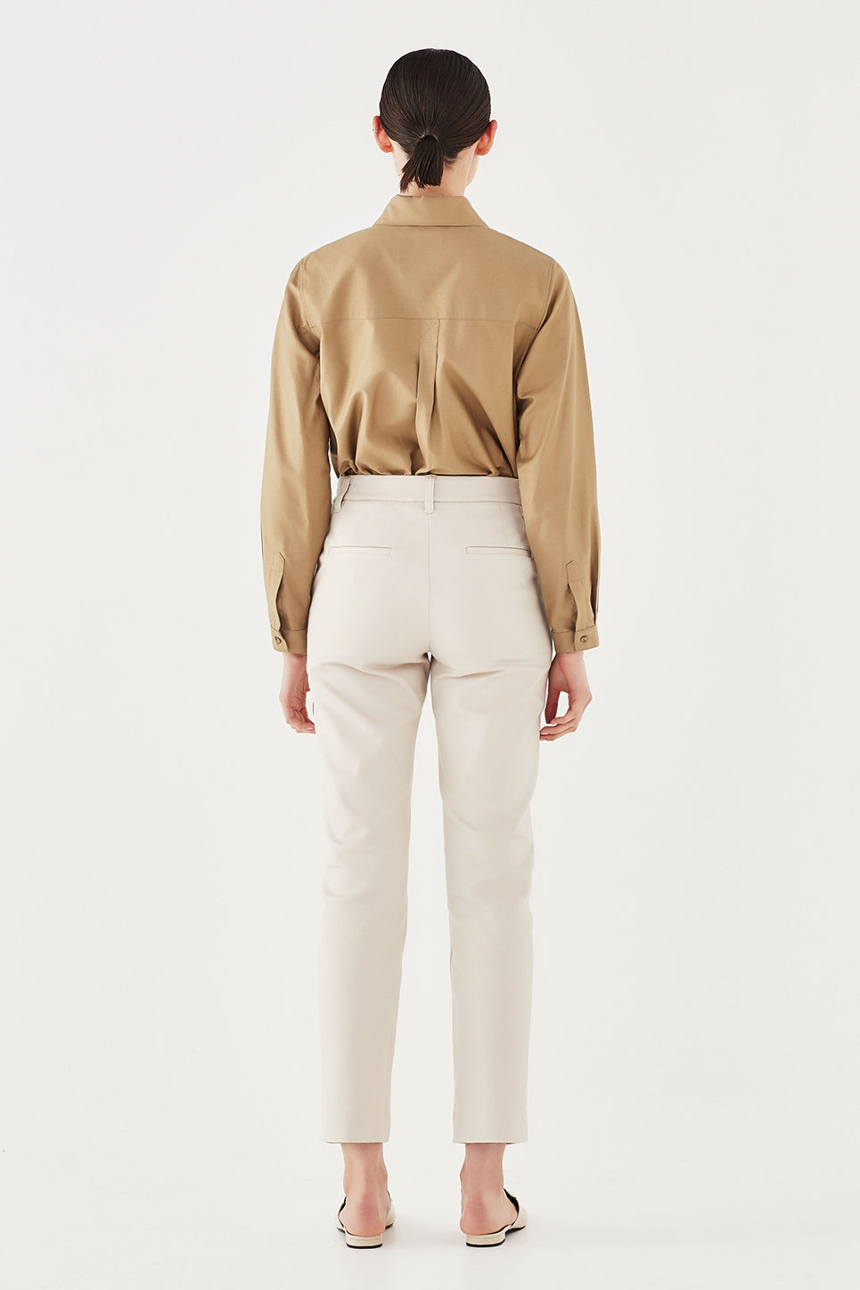 The Marlon Trouser in Bone