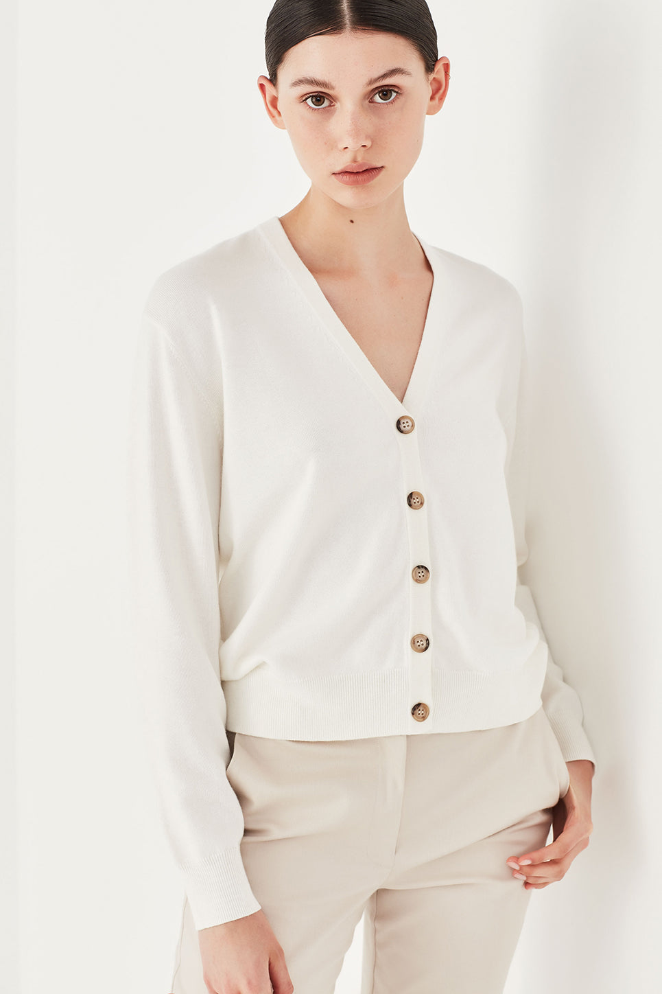 The Clover Cardi in Ivory
