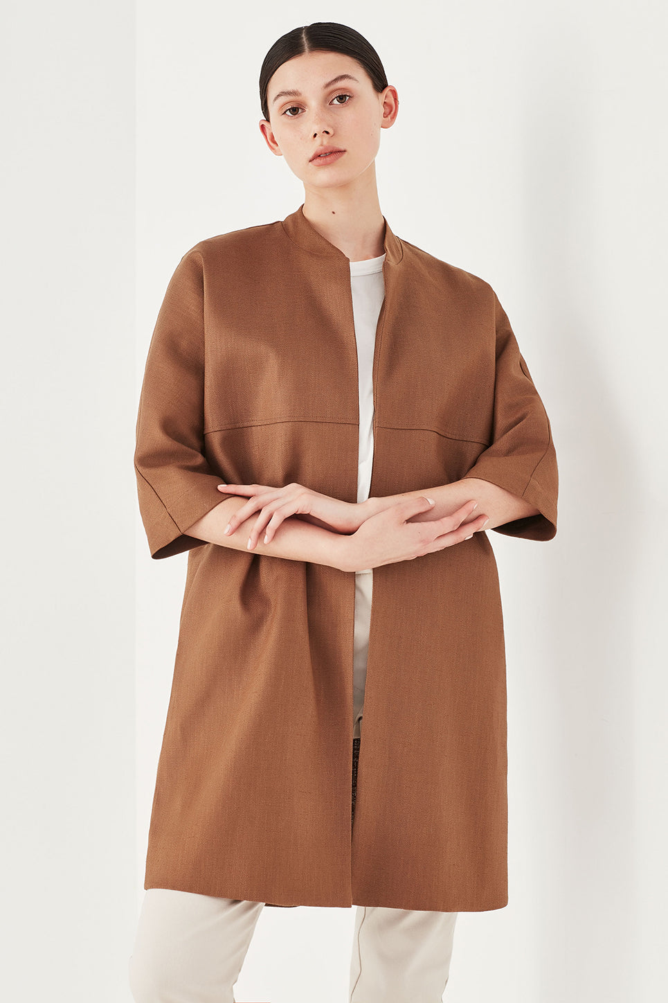 The Allium Coat in Nutmeg